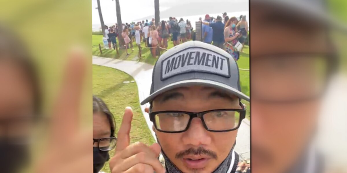 Scenes of unmasked tourists in large groups stir anger on Maui