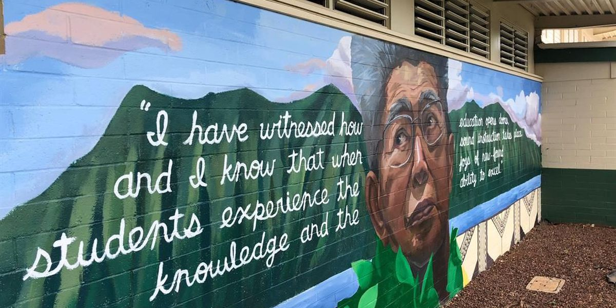 Kaneohe Elementary School unveils mural in honor of late Sen. Akaka
