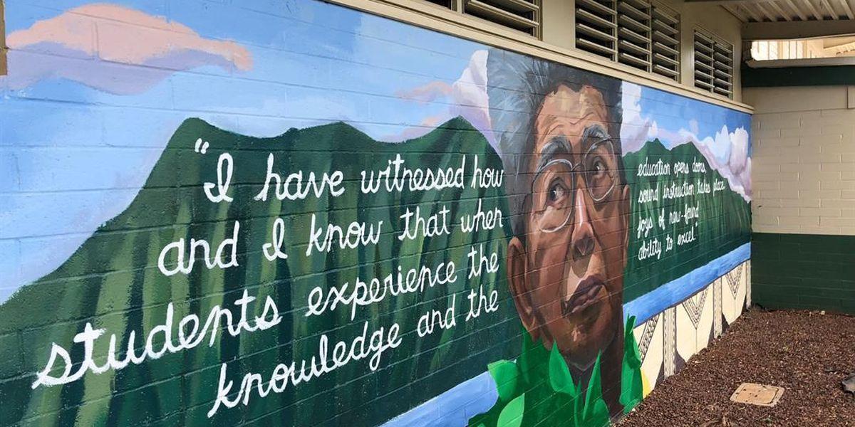 Kaneohe Elementary School unveils mural in honor of late Sen. Akaka
