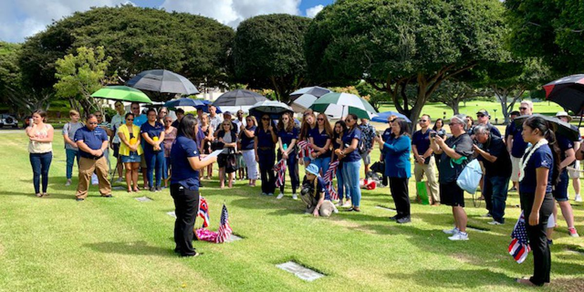 WWII fallen at Punchbowl eulogized by high school students who learned about them