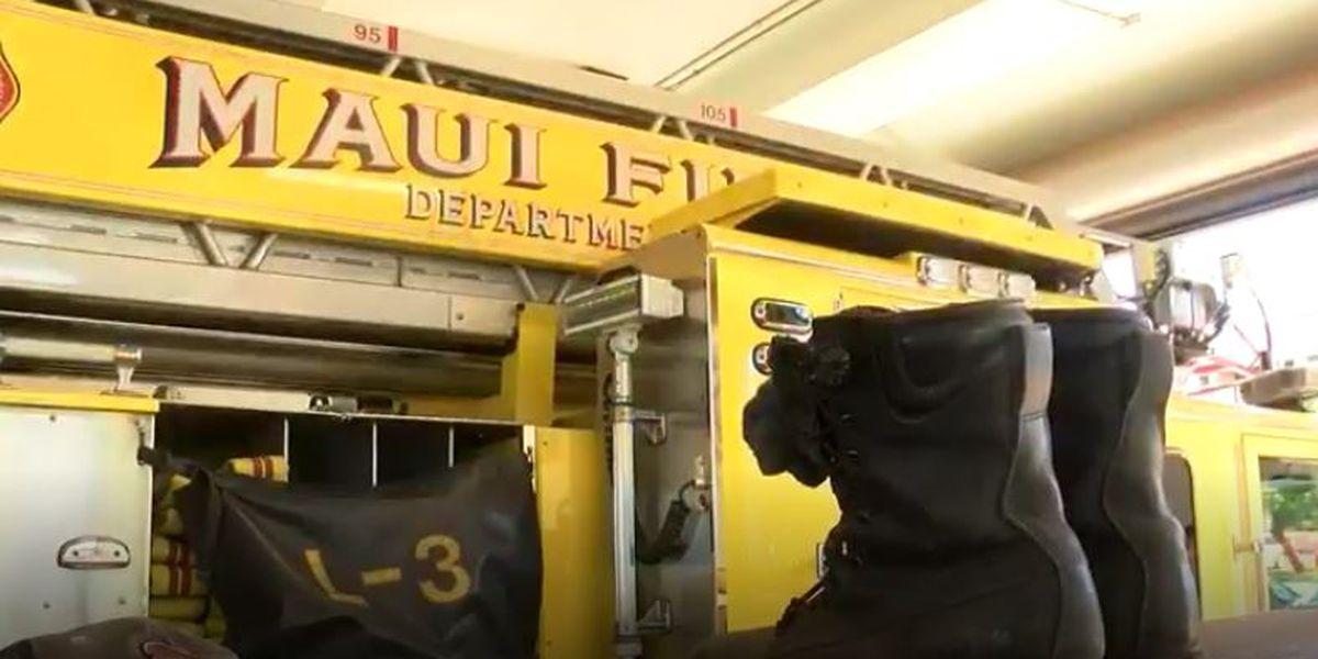 Leaking propane tank ignites small fire on Maui