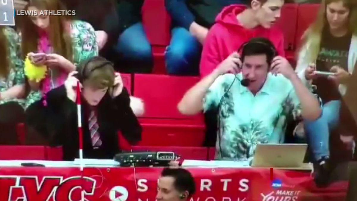 Lewis University student broadcasters bash UH team name on livestream