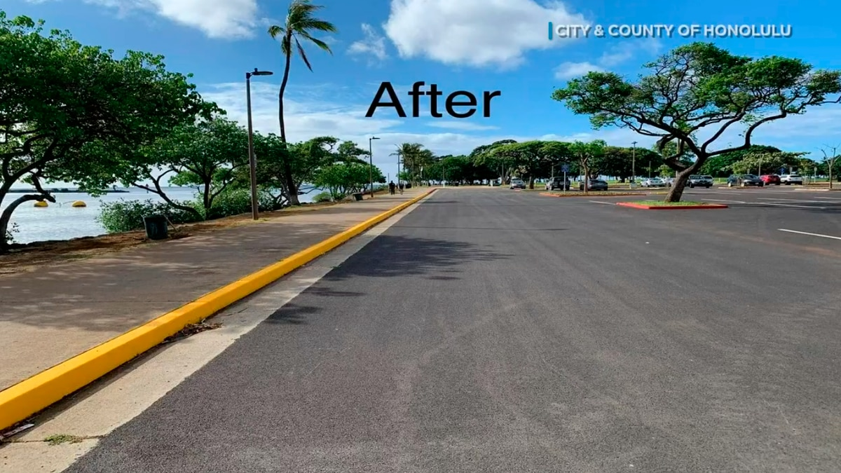 After 8 months, the Magic Island parking lot is back open