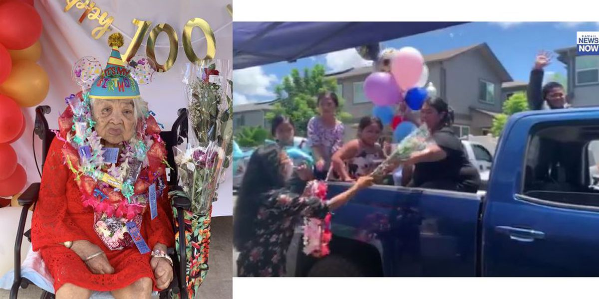 Happy 100th birthday! Ewa Beach family holds a parade in place of a party