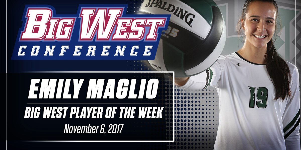Rainbow Wahine volleyball's Emily Maglio named Big West Offensive Player of the Week
