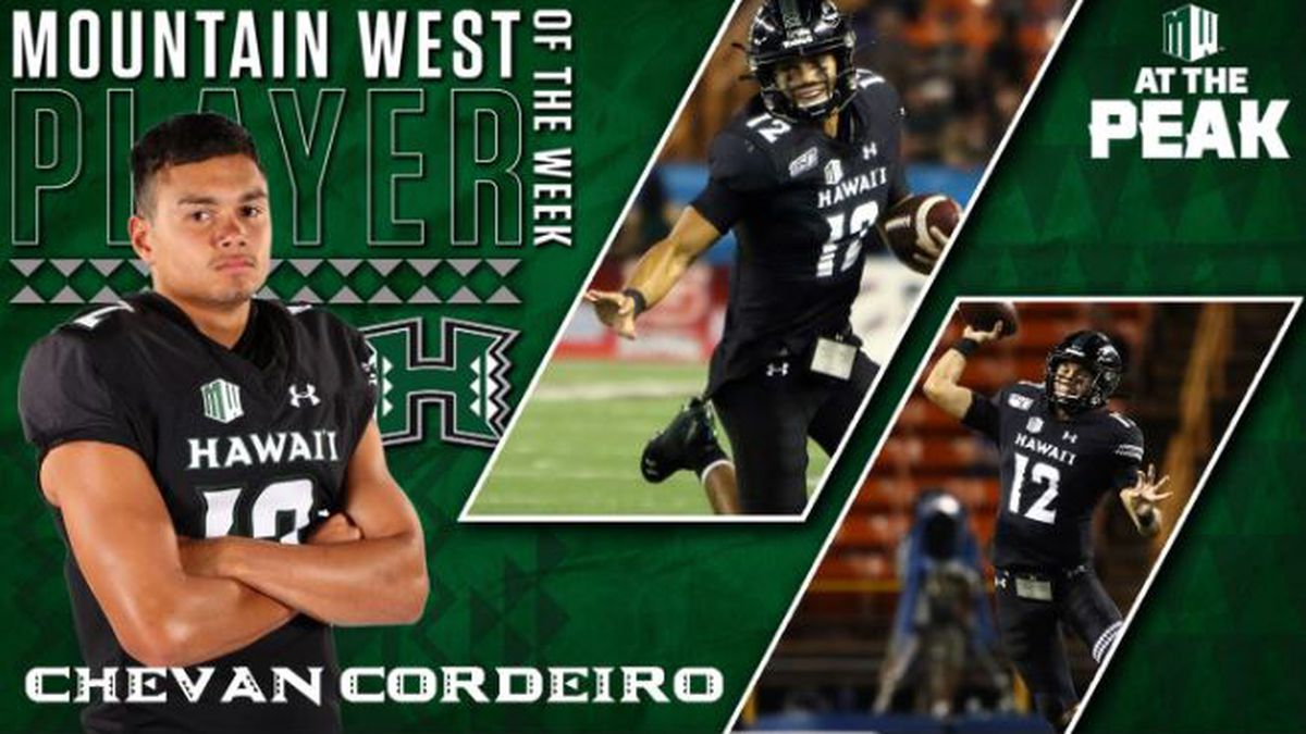 Cordeiro wins Mountain West Player of the Week