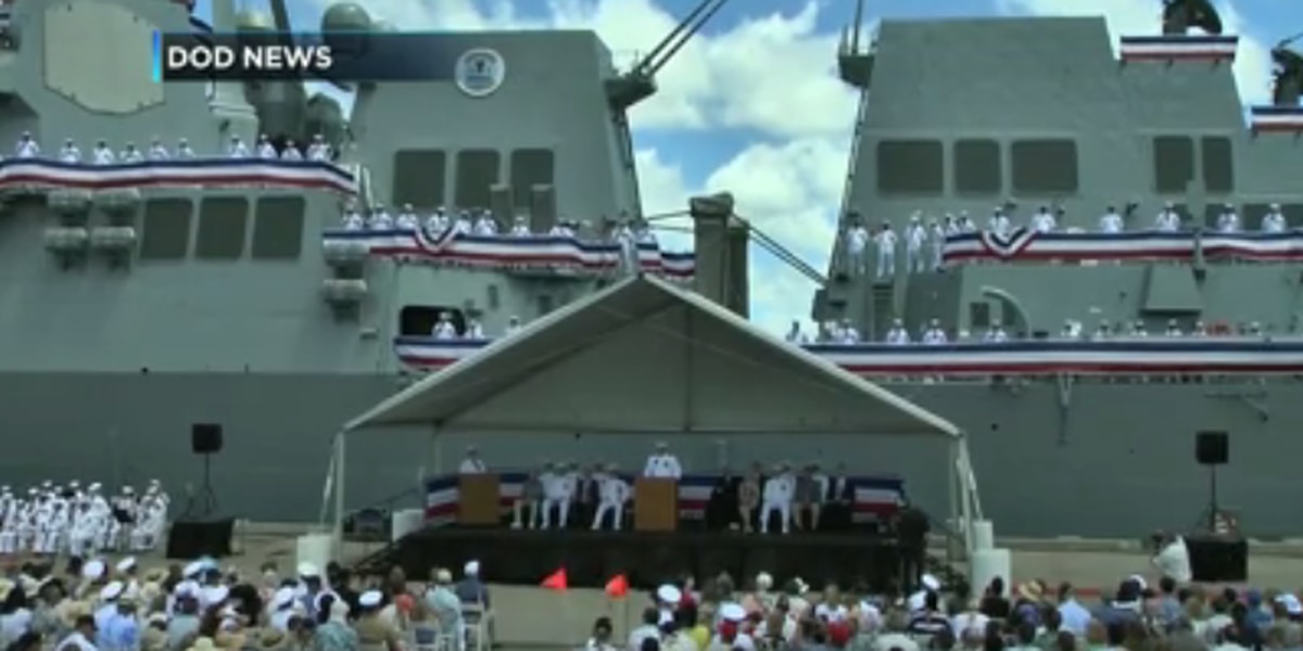 U.S. Navy commissions new warship at Pearl Harbor