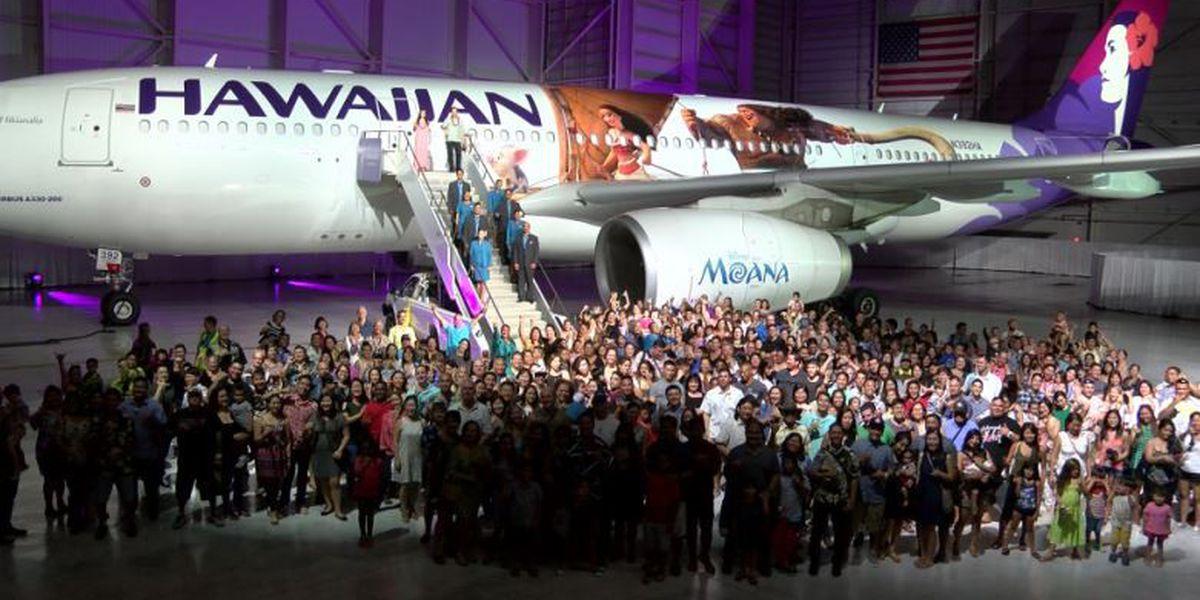 Hawaiian Airlines debuts 'Moana'-themed airplane