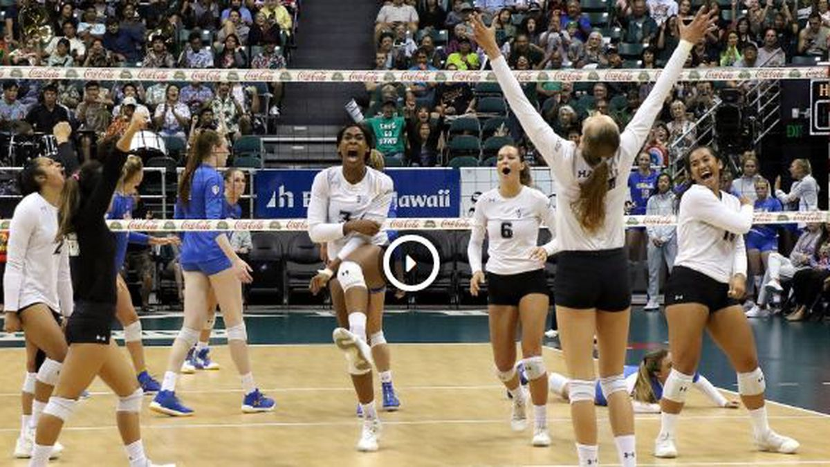 Wahine Volleyball Sweeps UCLA, for third tourney title