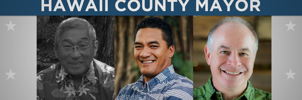 Harry Kim fails to win re-election as Big Island mayor; Roth and Marzo head to run-off