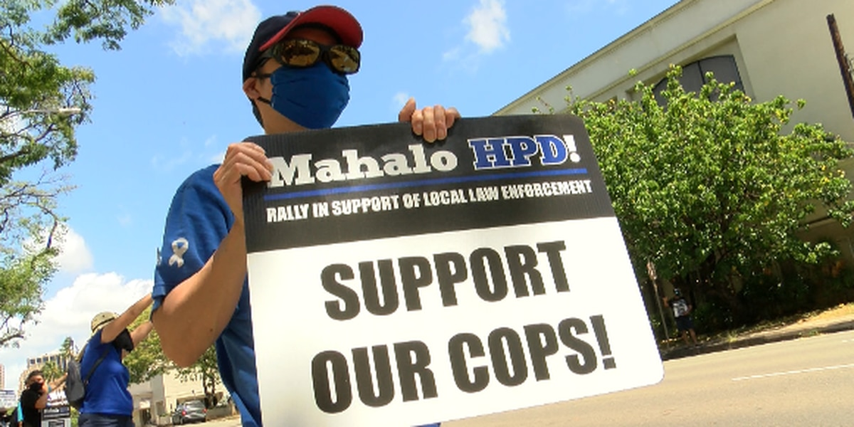 As HPD faces criticism, supporters rally to show their appreciation for law enforcement