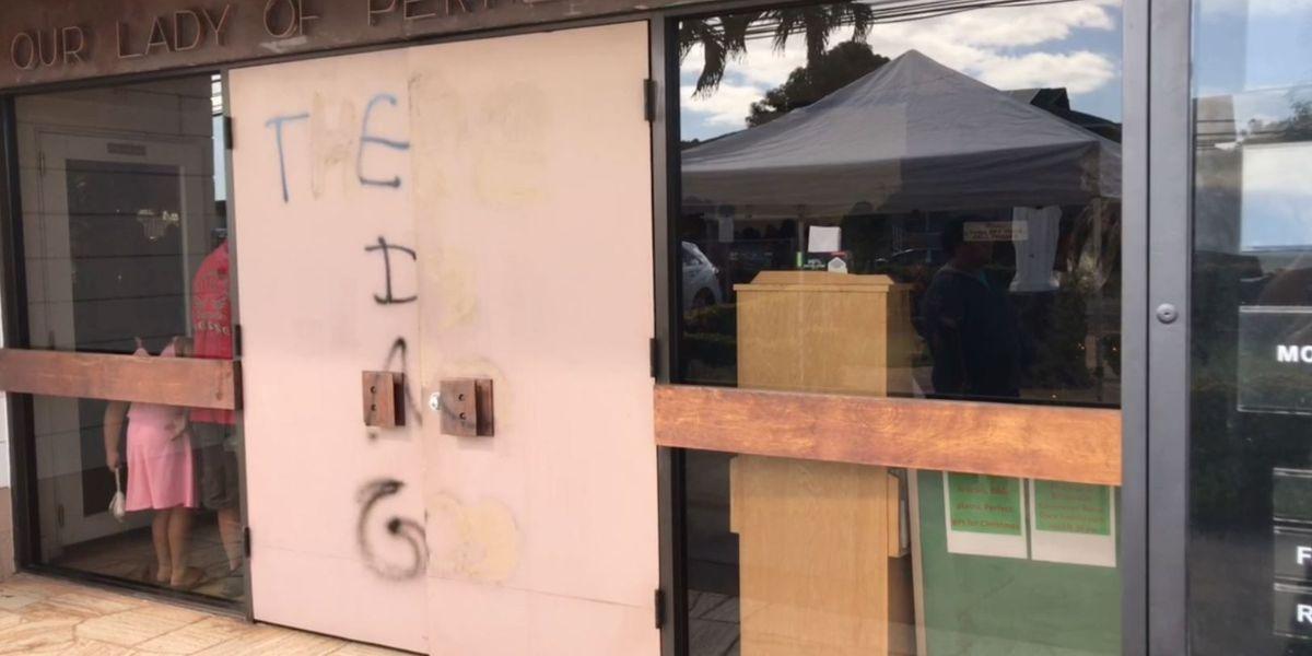 'There is no God': Vandals spray paint door of Ewa Beach church