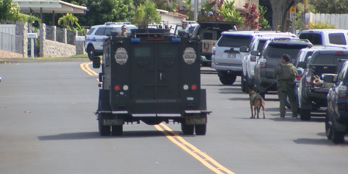 After more than 14 hours, tense standoff in Pearl City ends with suspect in custody