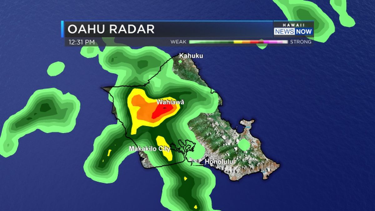 Showers dump 3 to 4 inches of rain on parts of Oahu