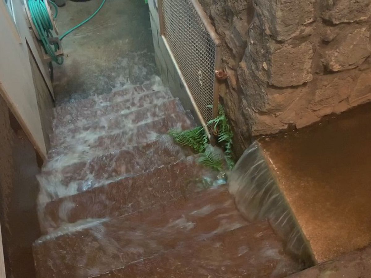 Water gushes down street, floods home in Alewa Heights after main break