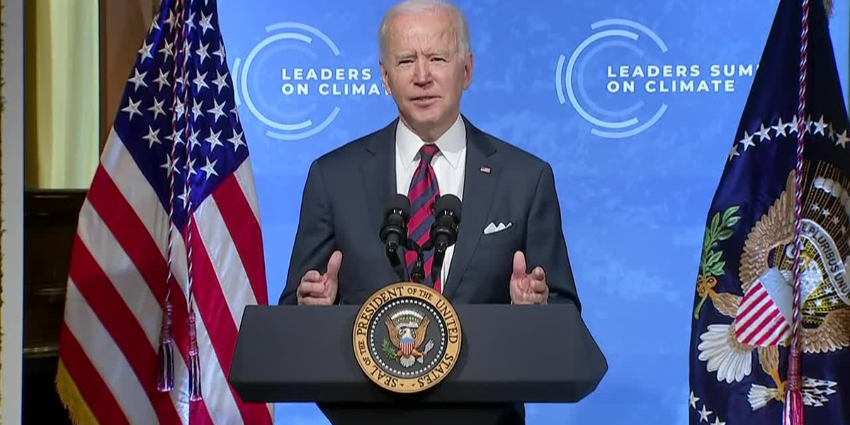 Biden commits to cutting US emissions in half