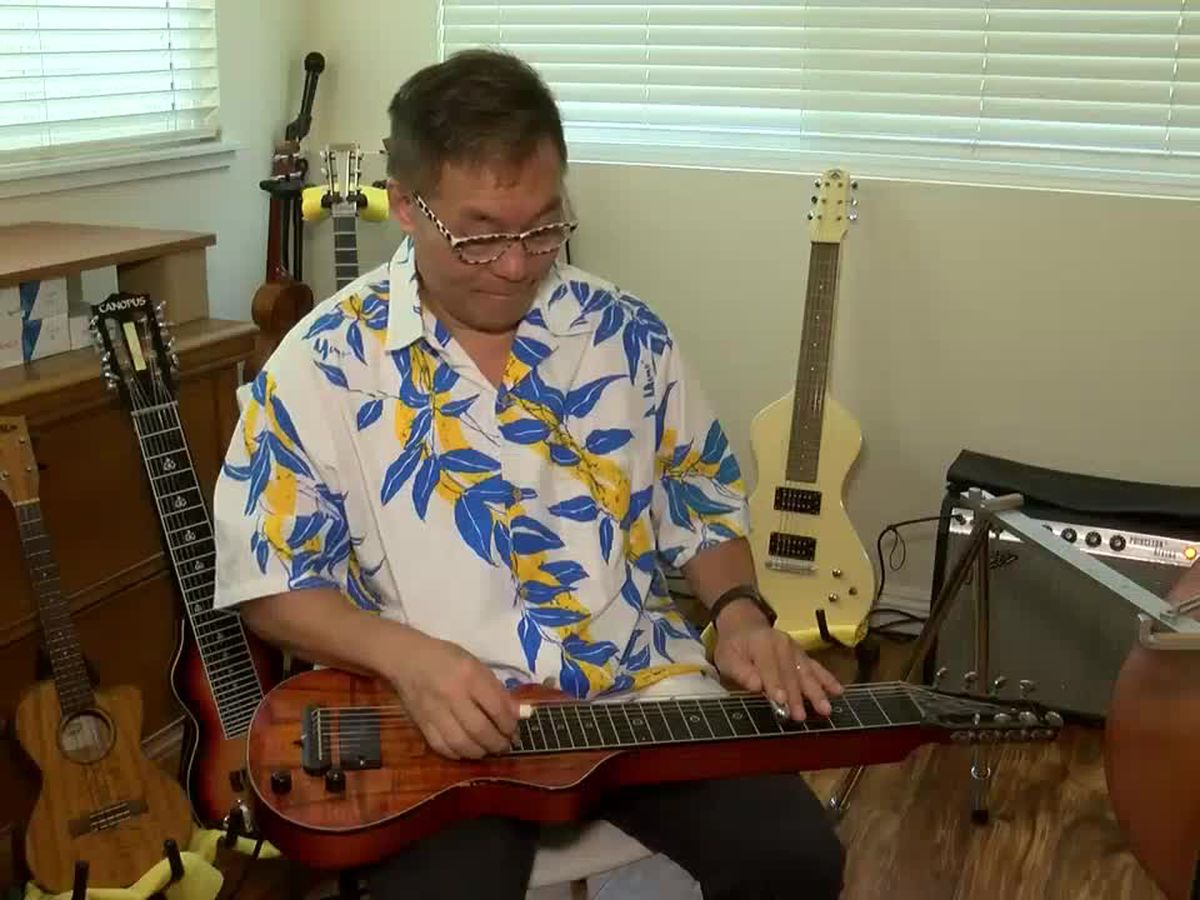 Through his students, he keeps the uniquely Hawaiian sound of the steel guitar alive