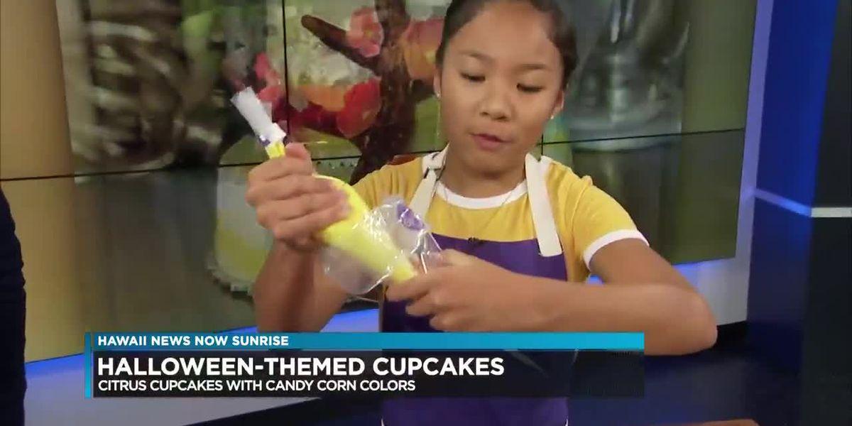 Hawaii girl on Food Network's 'Kids Baking Championship' demonstrates Halloween cupcakes
