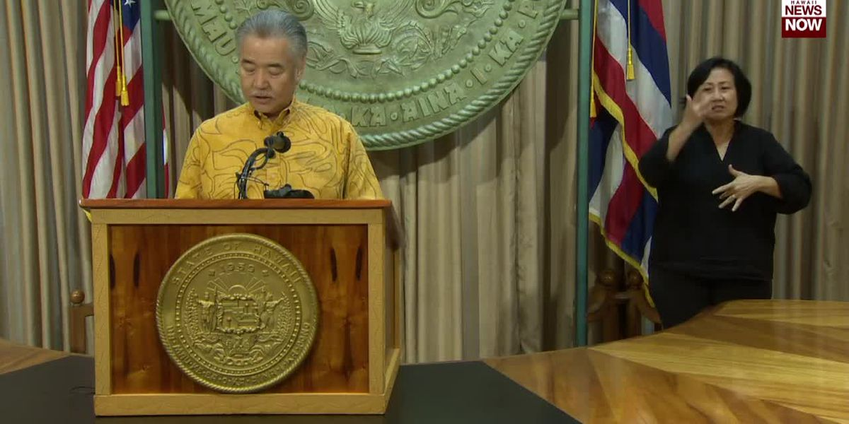 Governor Ige provides an update on state's COVID-19 response