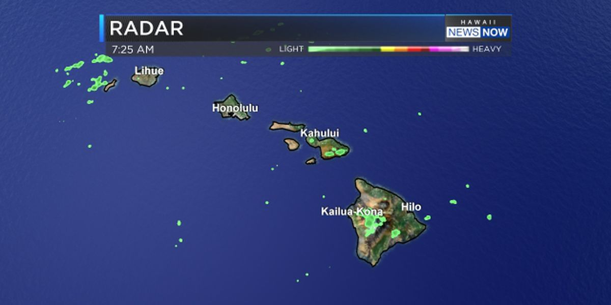 Forecast: Shallow front to bring some clouds, a little rain, then trade winds