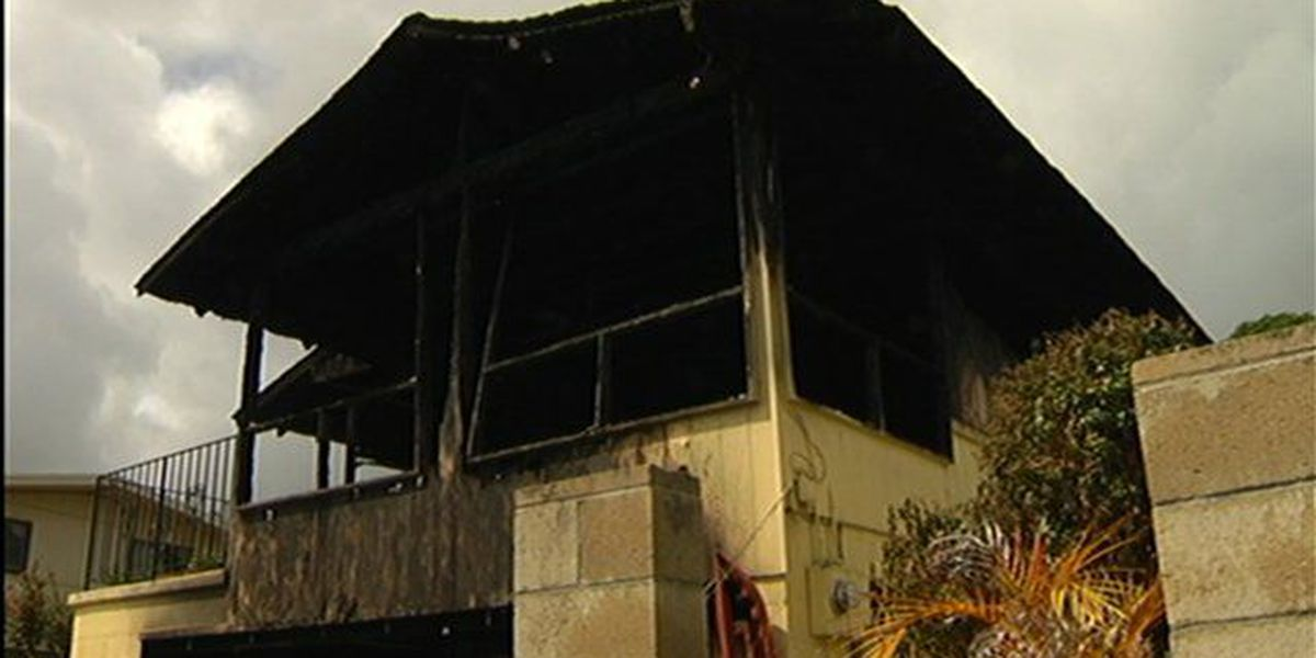 Former policeman's home goes up in flames