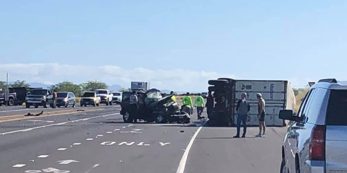 Four people taken to a hospital following a Big Island crash