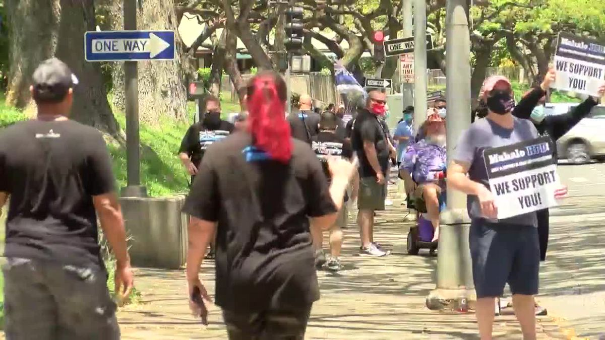 Supporters of local law enforcement rally to show their appreciation