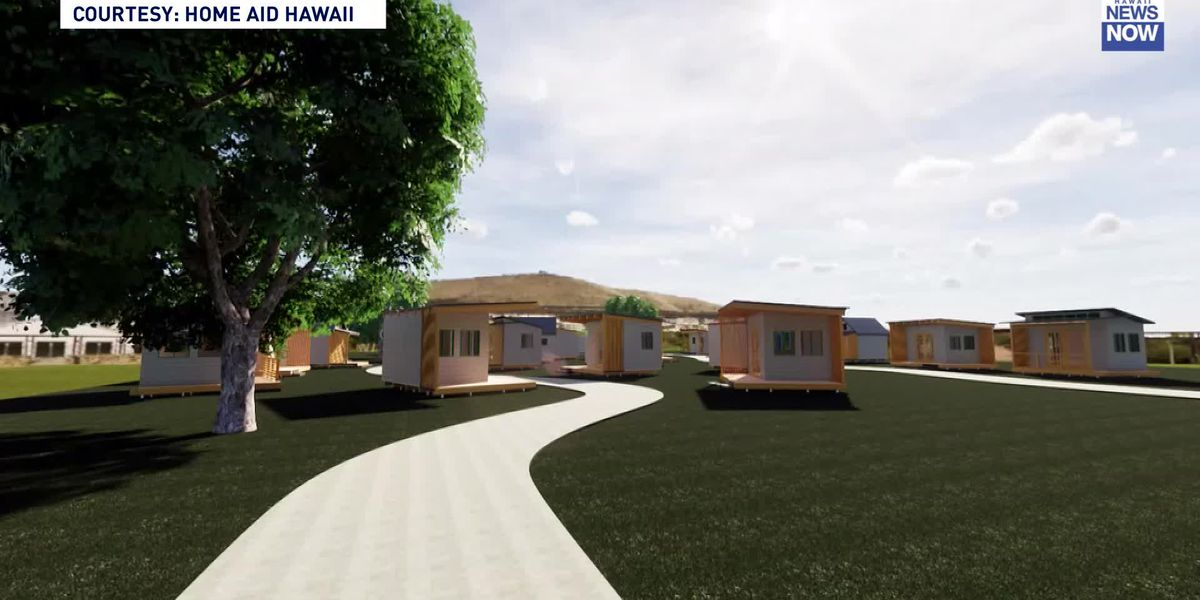 Oahu's first village-style homeless project could begin to rise by Thanksgiving