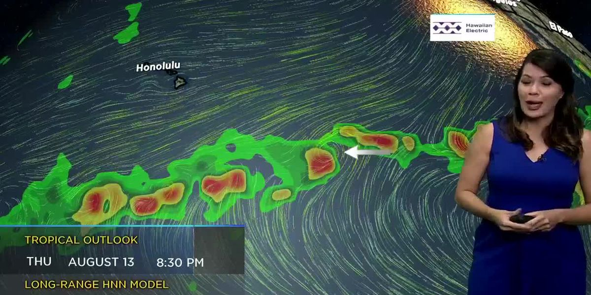 Tracking beautiful trade winds and keeping an eye on the tropical satellite; Meteorologist Jen Robbins