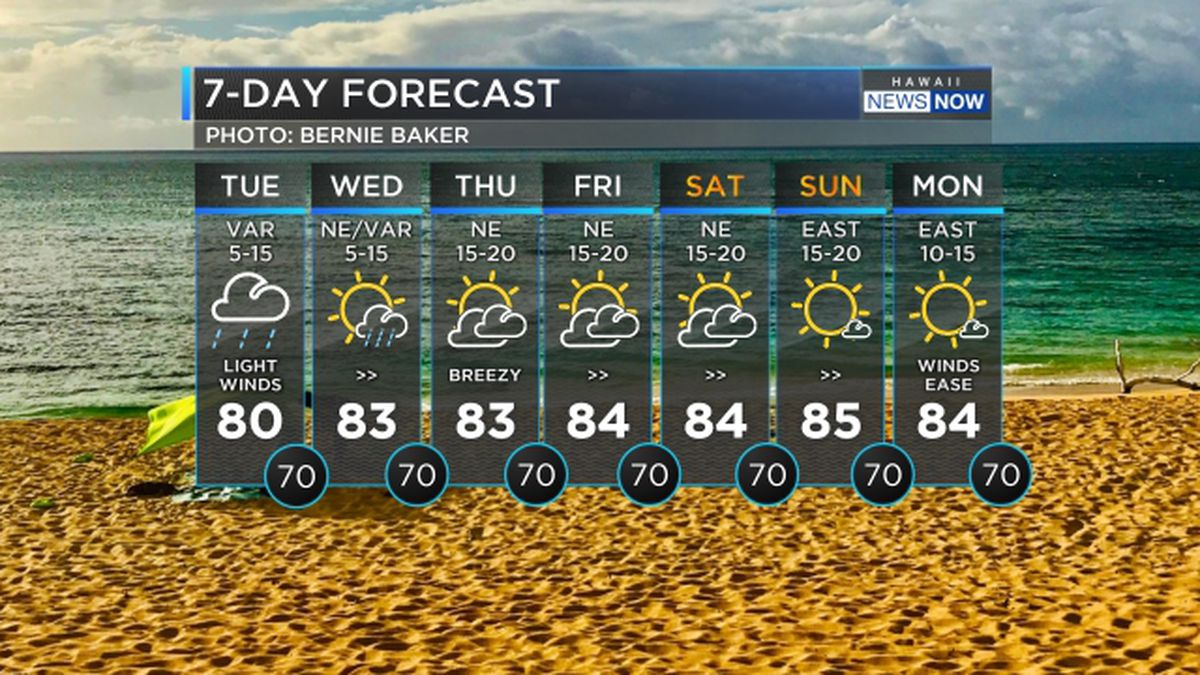 Forecast: Heavy rain possible today, drier by Thursday