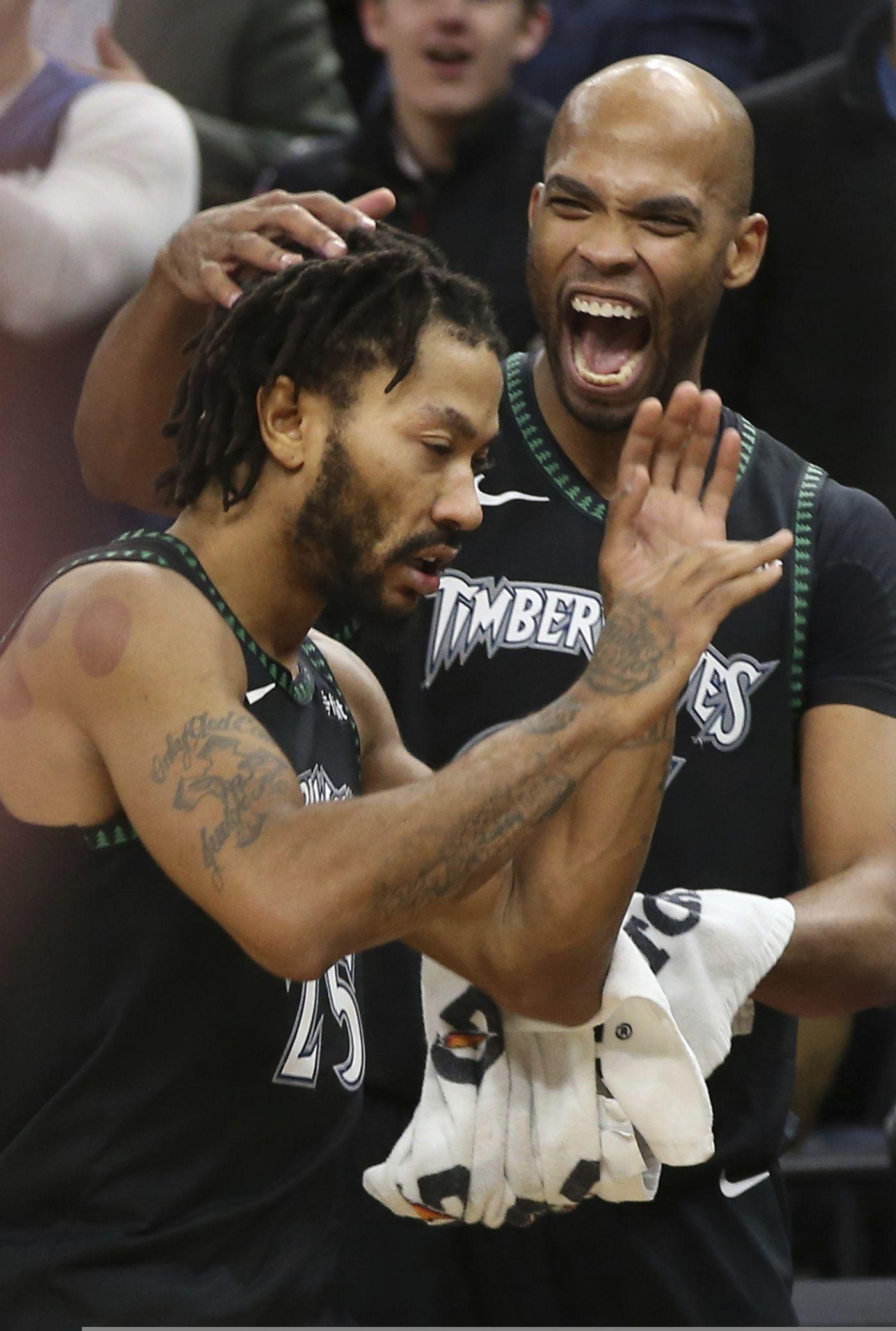 competitive price 48b0e 9d1b9 Rose scores career-high 50 as Timberwolves top Jazz 128-125