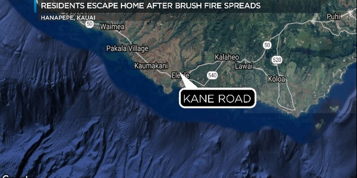 Brush fire that spread to Hanapepe home extinguished