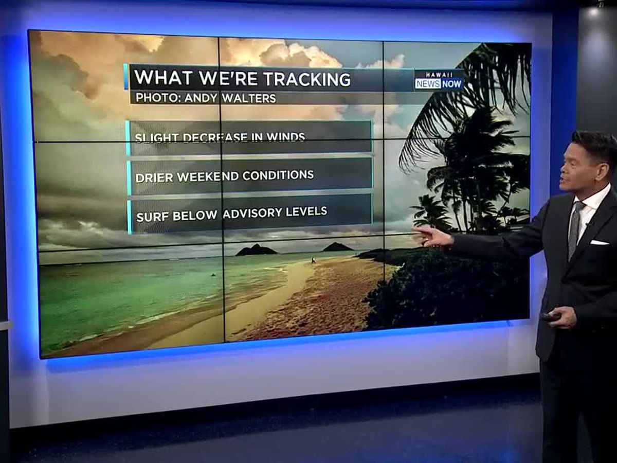 Weekend Forecast: Decreasing showers, slightly lighter trade winds