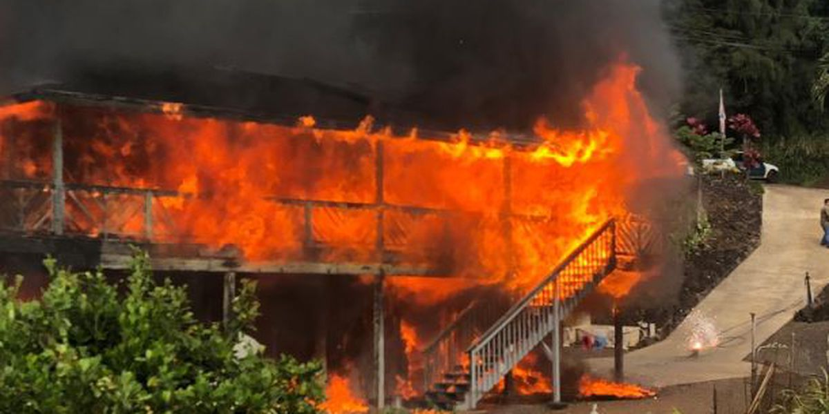 Fire leaves family's home a blackened shell, but they've found a reason to be grateful