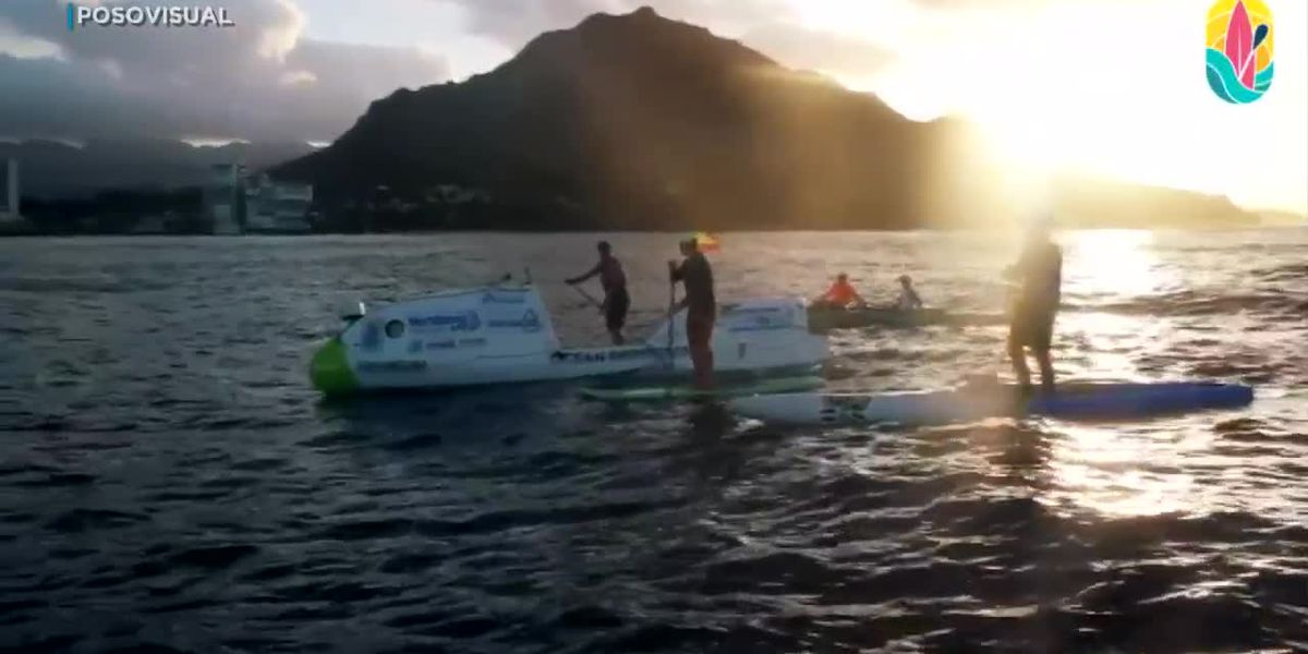 Pacific Pulse: Extreme athlete paddle boards across the Pacific