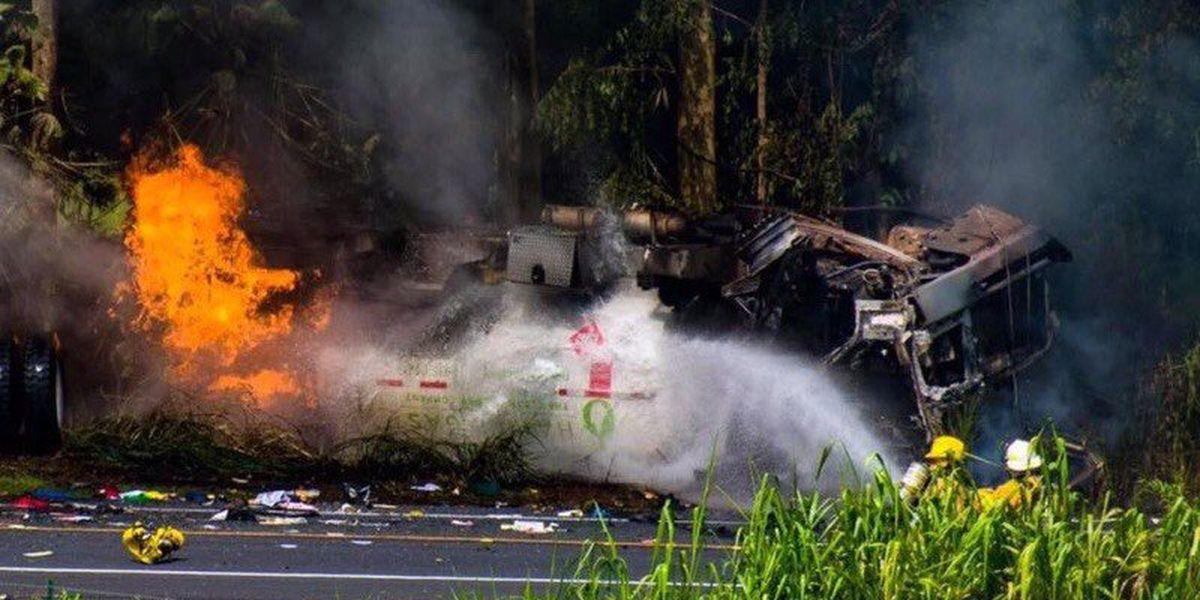 Woman killed in fiery Big Island crash identified