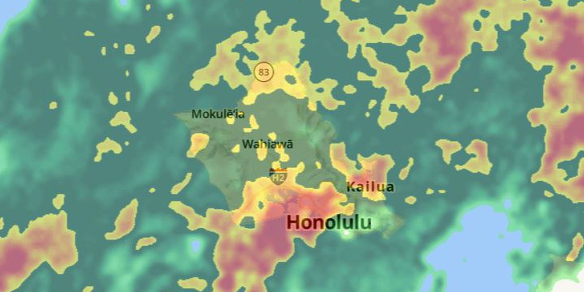 Heavy rain causes flooding, road closures across Oahu