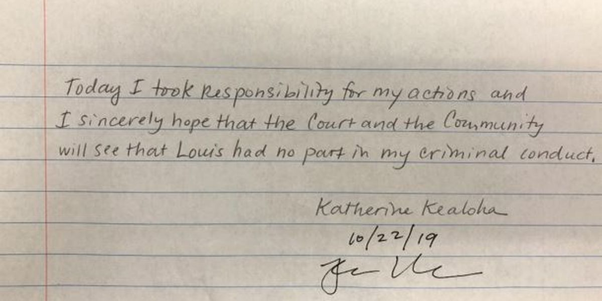 Read Katherine Kealoha's handwritten note taking 'responsibility' for her actions