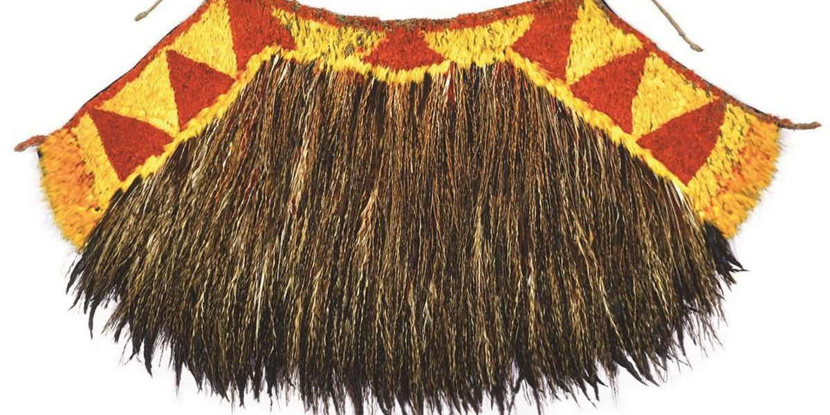 After 100 years in storage, a Hawaiian cape gifted to Captain Cook goes on display