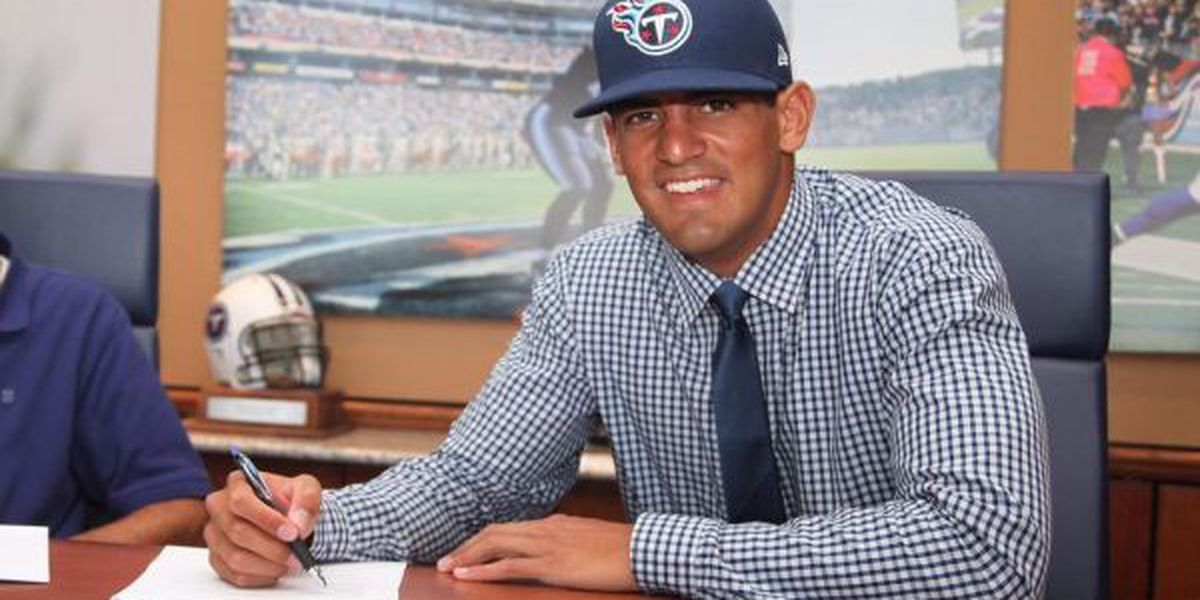 Marcus Mariota signs contract with Tennessee Titans