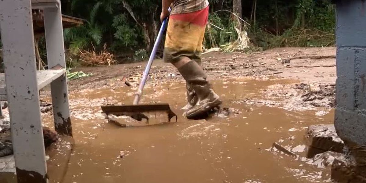 After flooding nearly destroyed their home, a Maui family faces a grueling clean-up