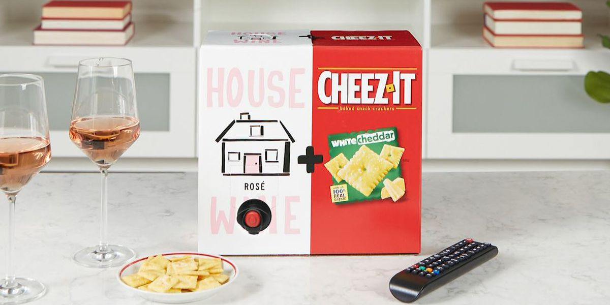How about some Cheez-Its with your wine?