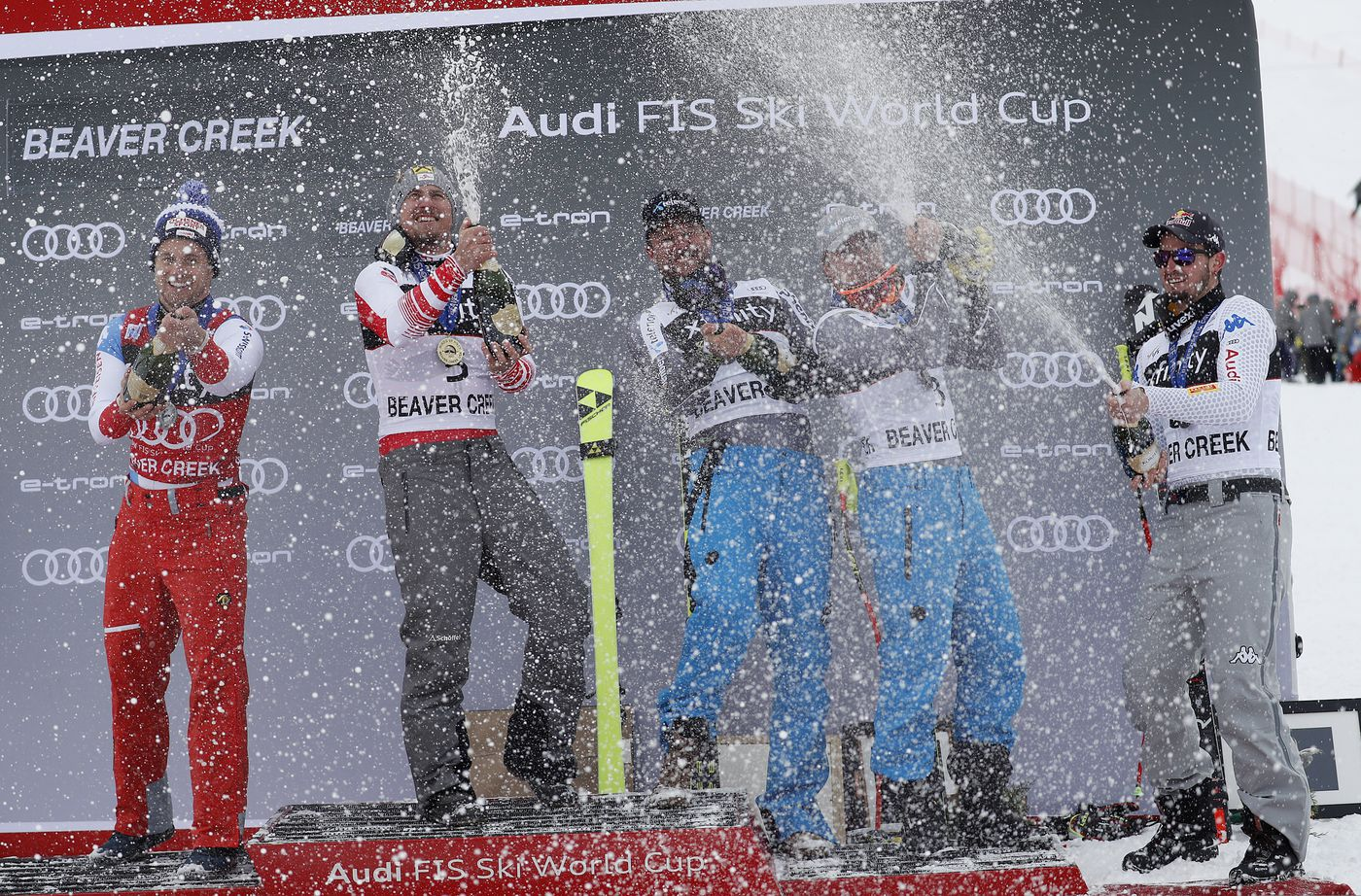 Franz takes super-G race at Beaver Creek on snowy, foggy day