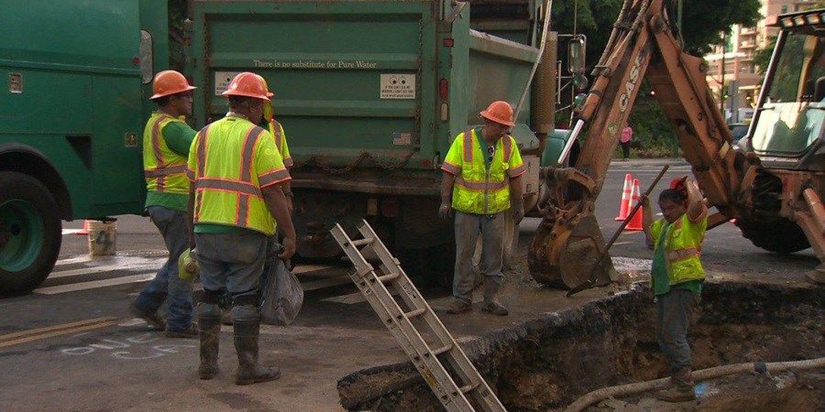 BWS completes repairs to broken water main in Waikiki