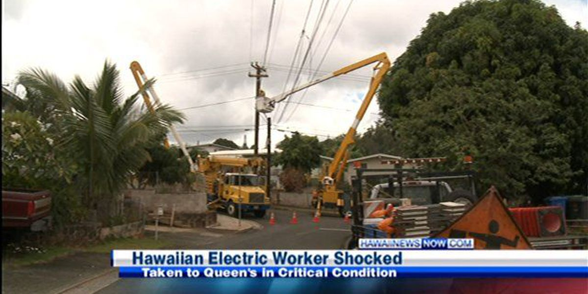 Power line shock: Hawaiian Electric worker in critical condition