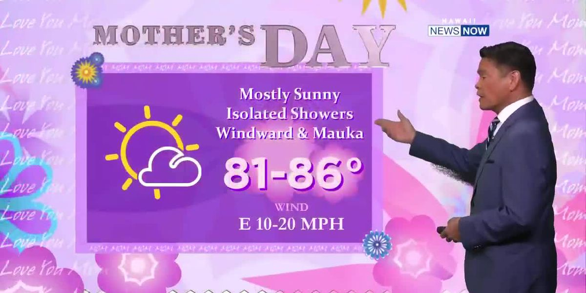 Trade wind weather for Mother's Day