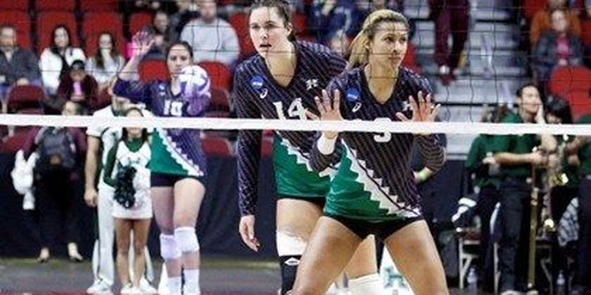 Rainbow Wahine v-ball season ends with loss in regional final