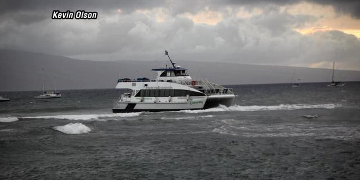 Grounded tour boat off reef, in good condition