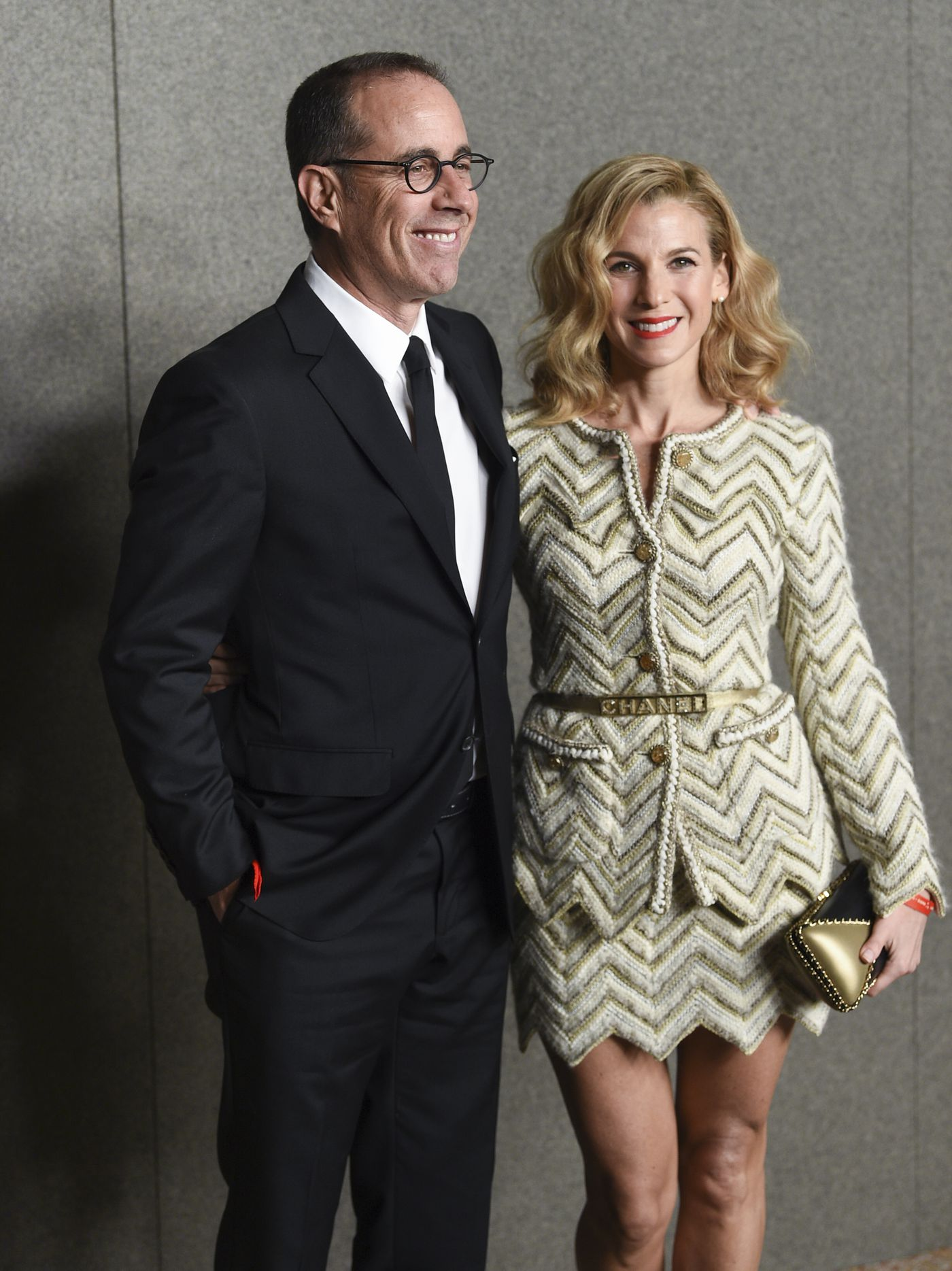 5857c90069a Comedian Jerry Seinfeld and Jessica Seinfeld attend the Chanel Metiers  d Art 2018 19