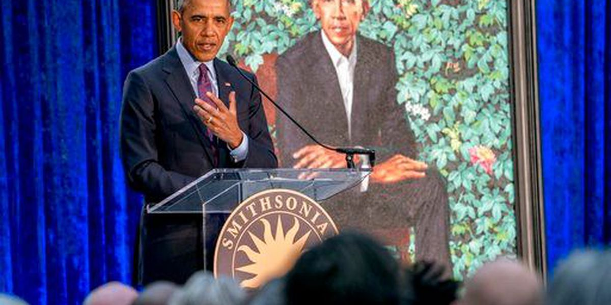 PHOTOS: Obamas attend unveiling of official portraits